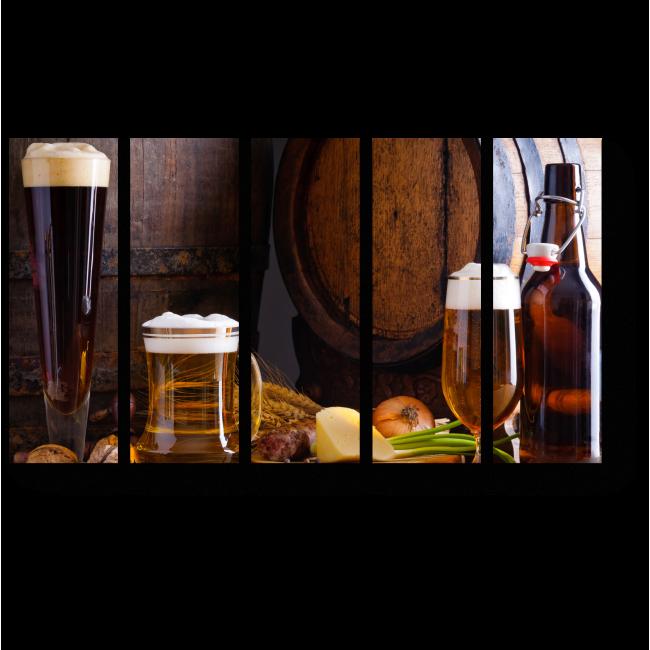 Модульная картина Натюрморт с пивом