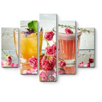 Модульная картина Цветочные коктейли