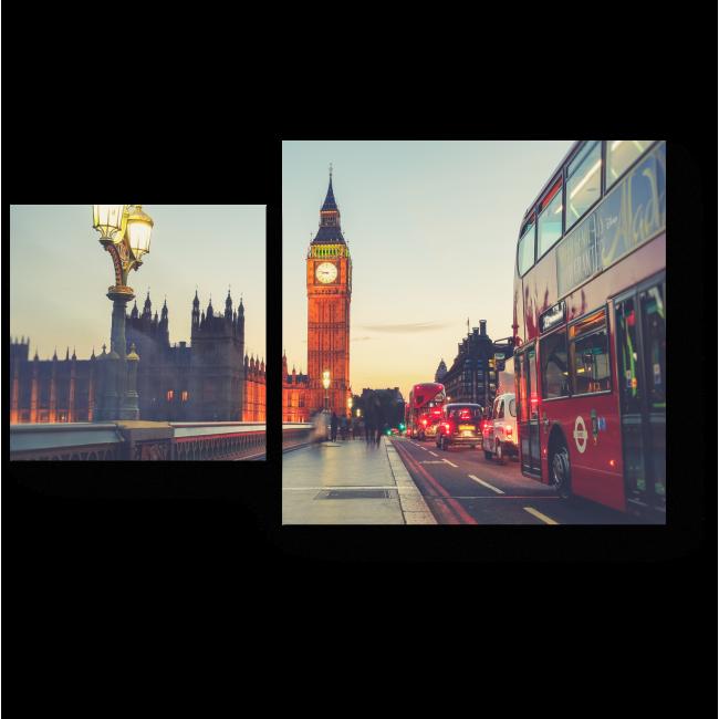 Модульная картина Гуляя по Вестминстерскому мосту