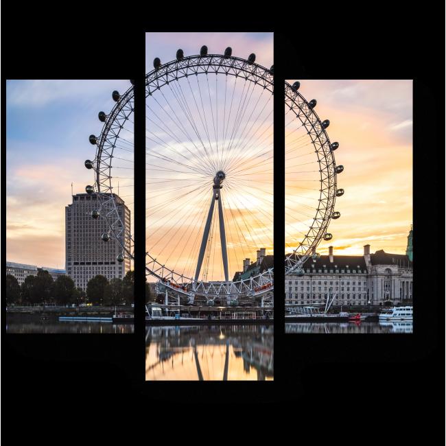 Модульная картина Лондонский глаз