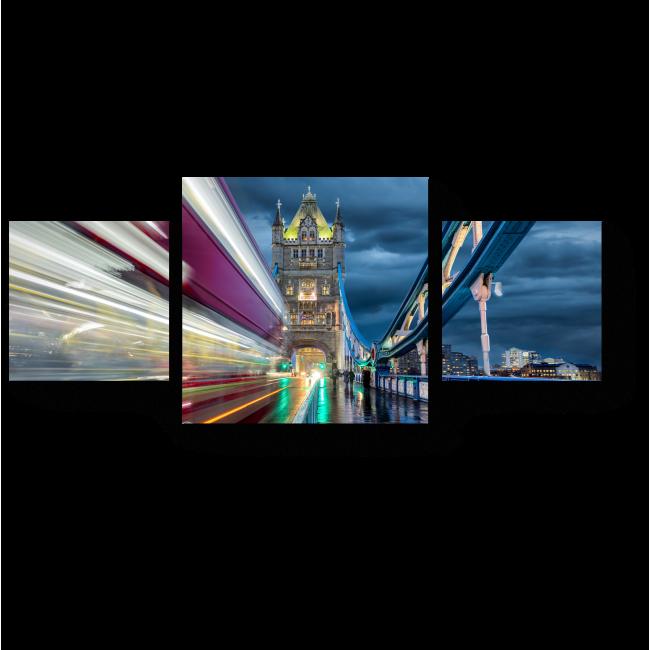 Модульная картина Лондон никогда не спит