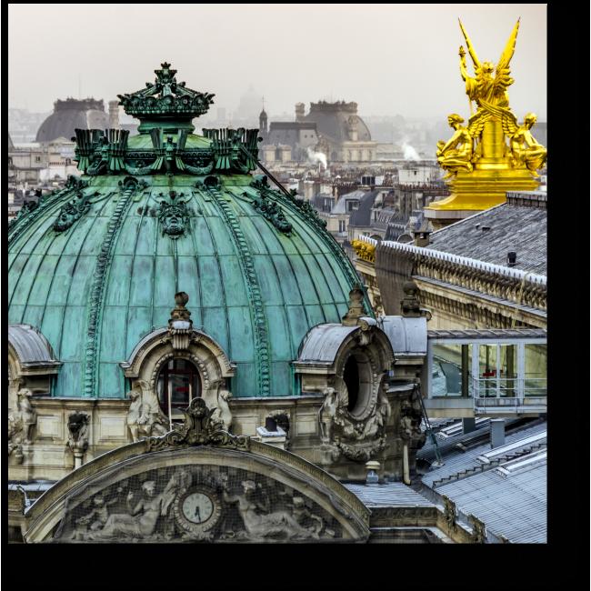 Модульная картина Вид на Париж с крыши Оперы