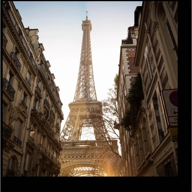 Модульная картина Эйфелева Башня на закате