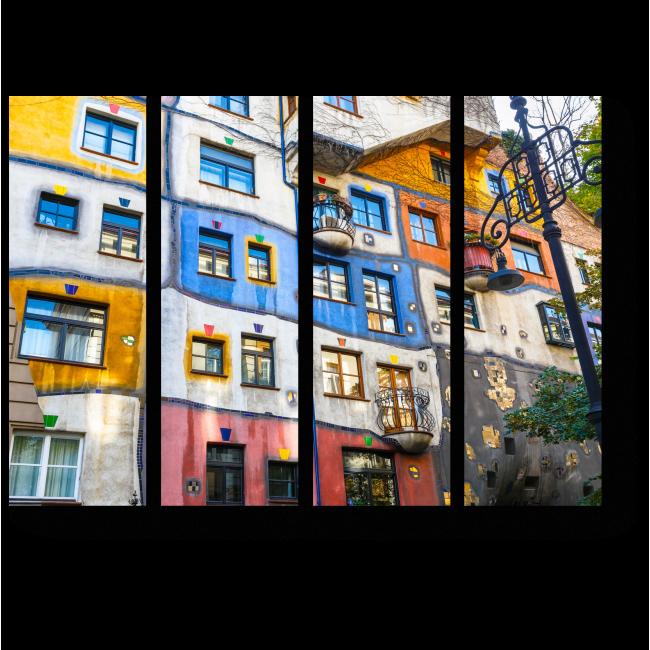 Модульная картина Красочные улочки Вены