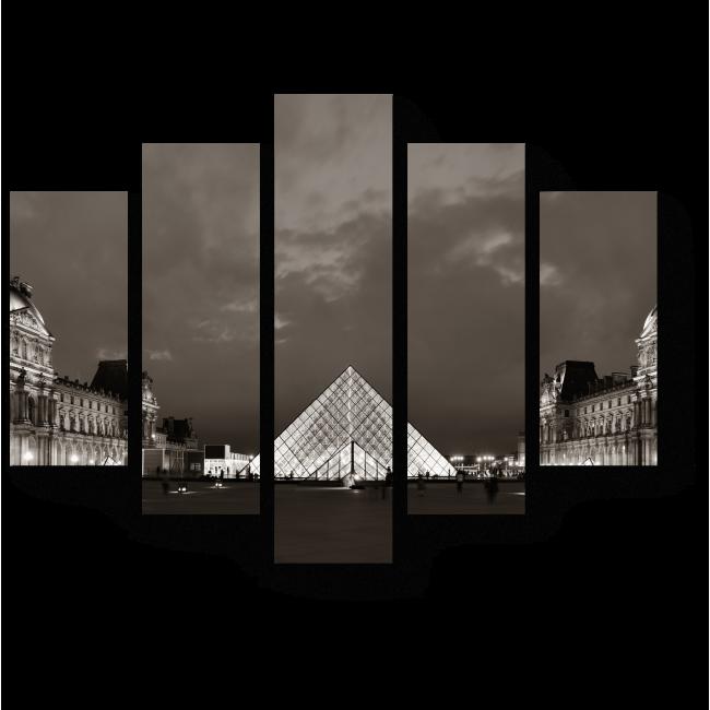 Модульная картина Блистательный Лувр