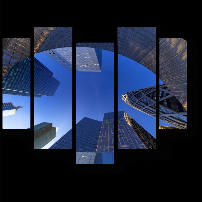 Модульная картина Зеркало парижских небоскребов
