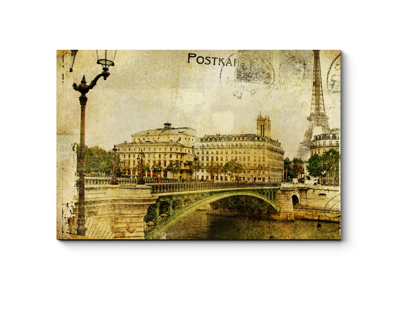 Привет из парижа открытка, днем