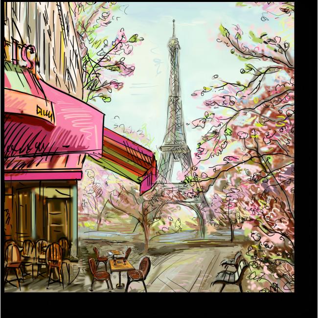 Модульная картина Весенний Париж