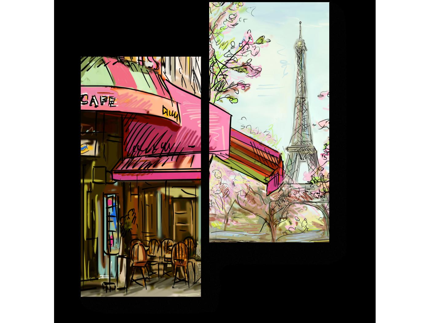 Модульная картина Весенний Париж (40x50) фото