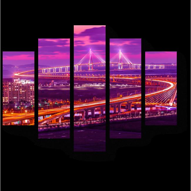 Модульная картина Чарующий вид Сеула