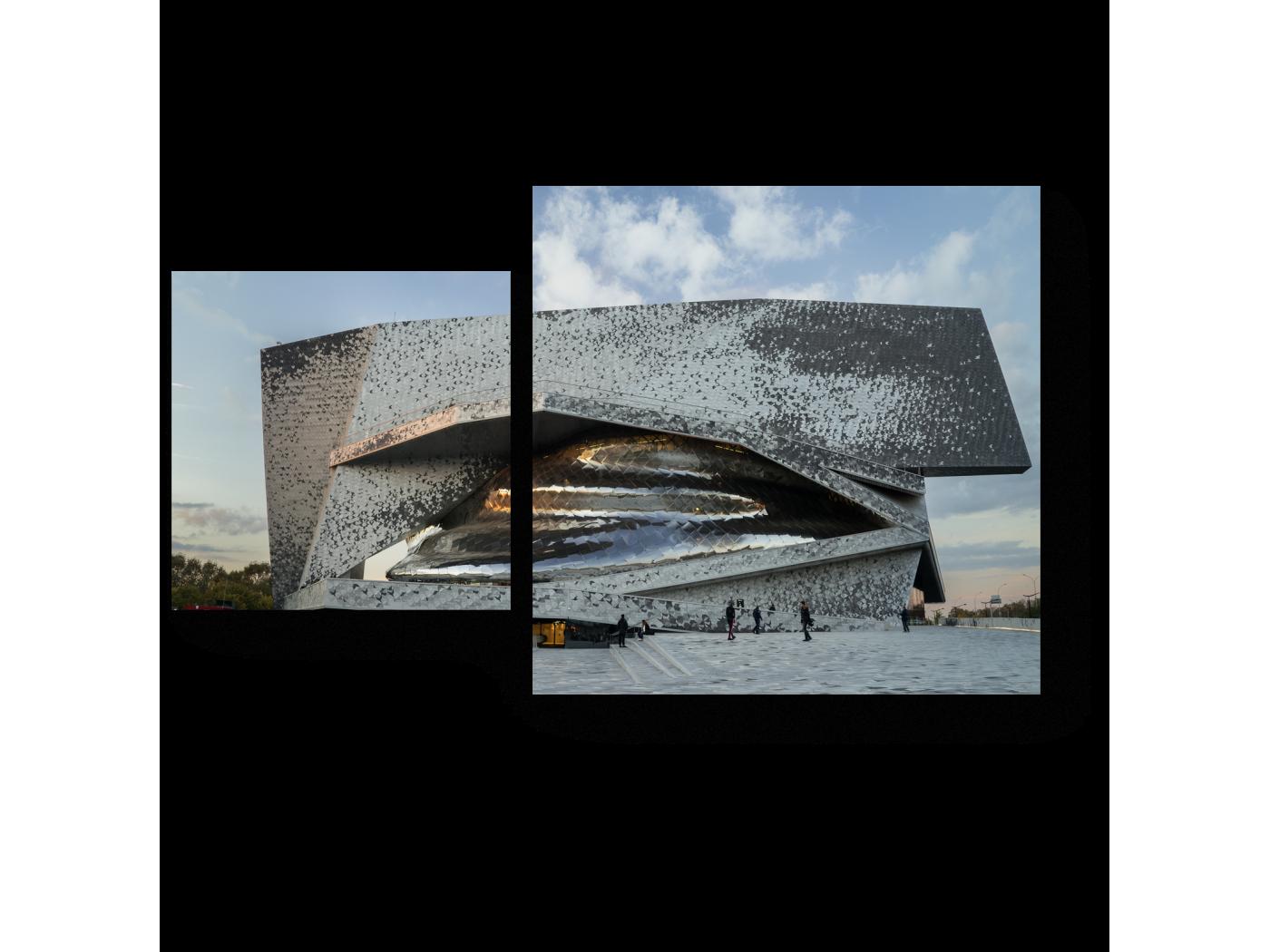 Модульная картина Новый взгляд на Париж (50x30) фото