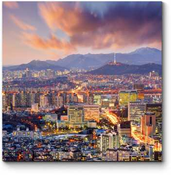 Панорама ночного Сеула