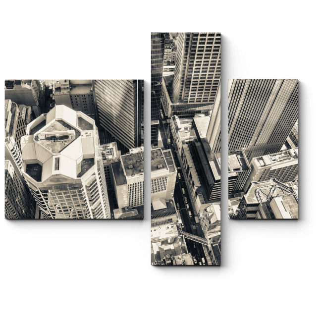 Модульная картина На крыше небоскреба