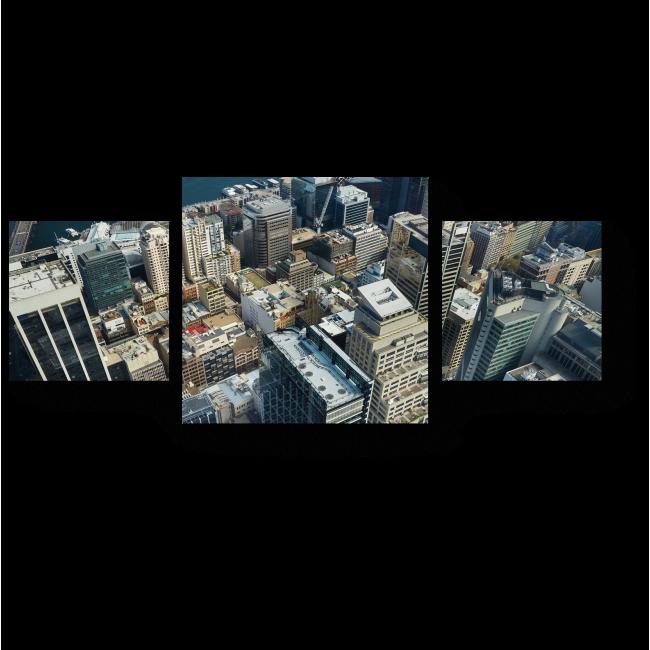 Модульная картина Сердце мегаполиса