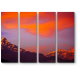Оранжевый закат над гималайскими горами