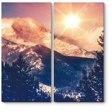Солнце над горами Колорадо