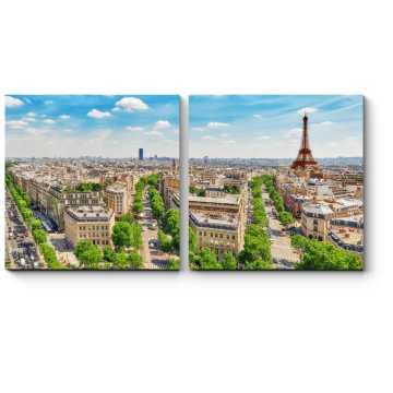 Вид на город влюбленных с Триумфальной Арки