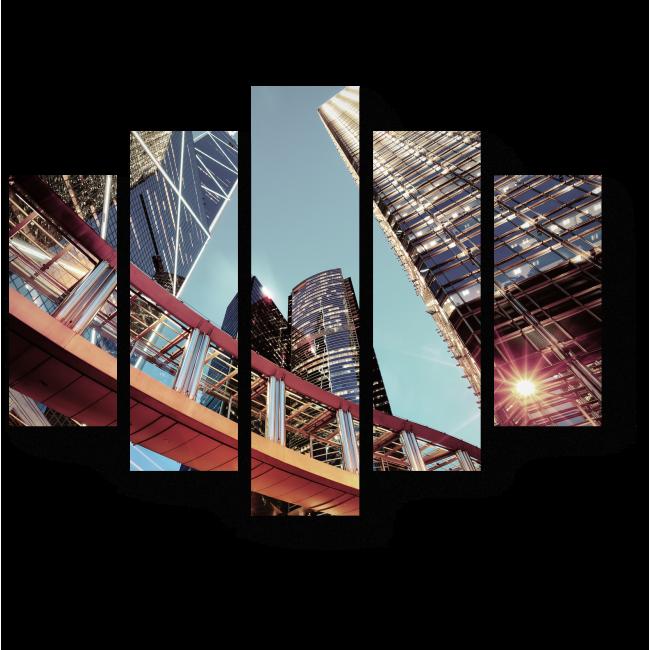 Модульная картина Величественный Гонконг