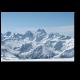 Панорама зимних гор на Кавказе