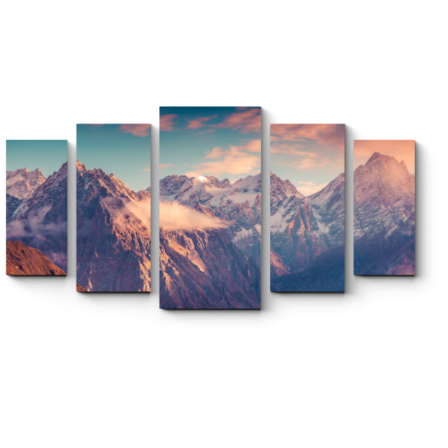 Модульная картина Осень в Кавказских горах