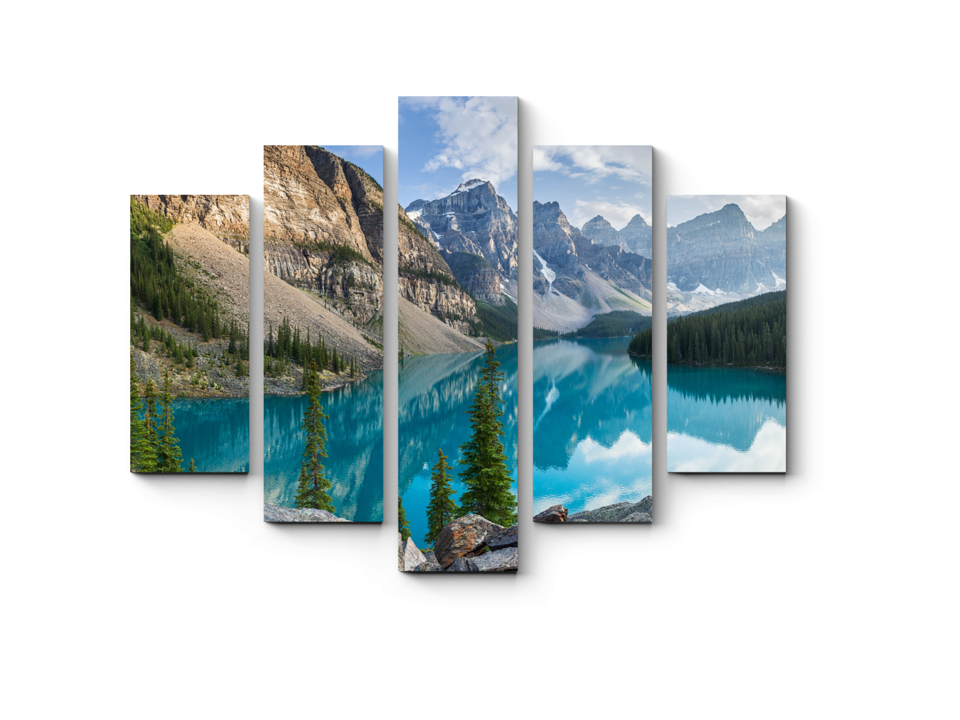 Модульная картина Скалистые горы (75x60) фото