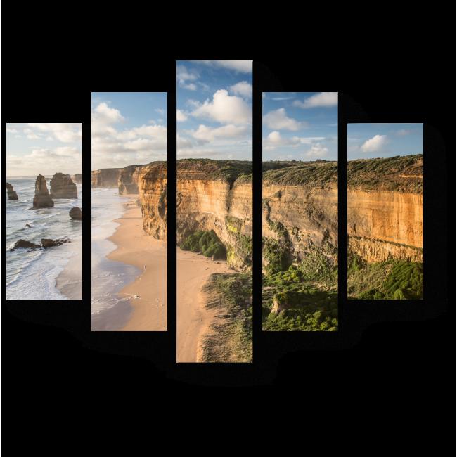 Модульная картина Скалистый пляж