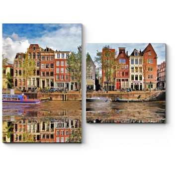 Зеркальная гладь канала, Амстердам