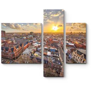 Чарующий Амстердам на закате.