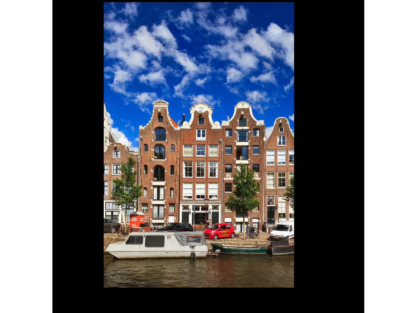Модульная картина Отличный день для прогулки по каналам Амстердама (20x30) фото