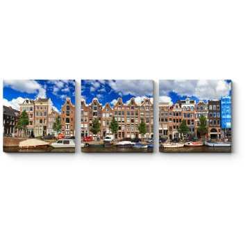 Отличный день для прогулки по каналам Амстердама