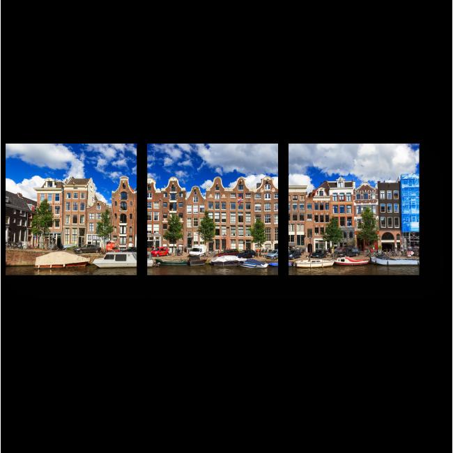Модульная картина Отличный день для прогулки по каналам Амстердама