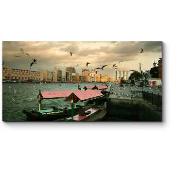 Модульная картина Чайки над бухтой