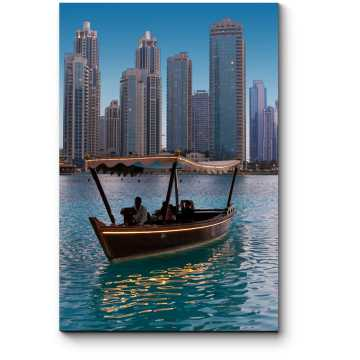 Плавание на деревянной лодке