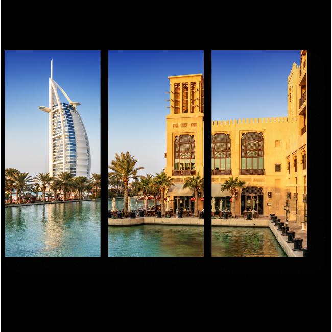 Модульная картина Тропическая сказка в Дубае
