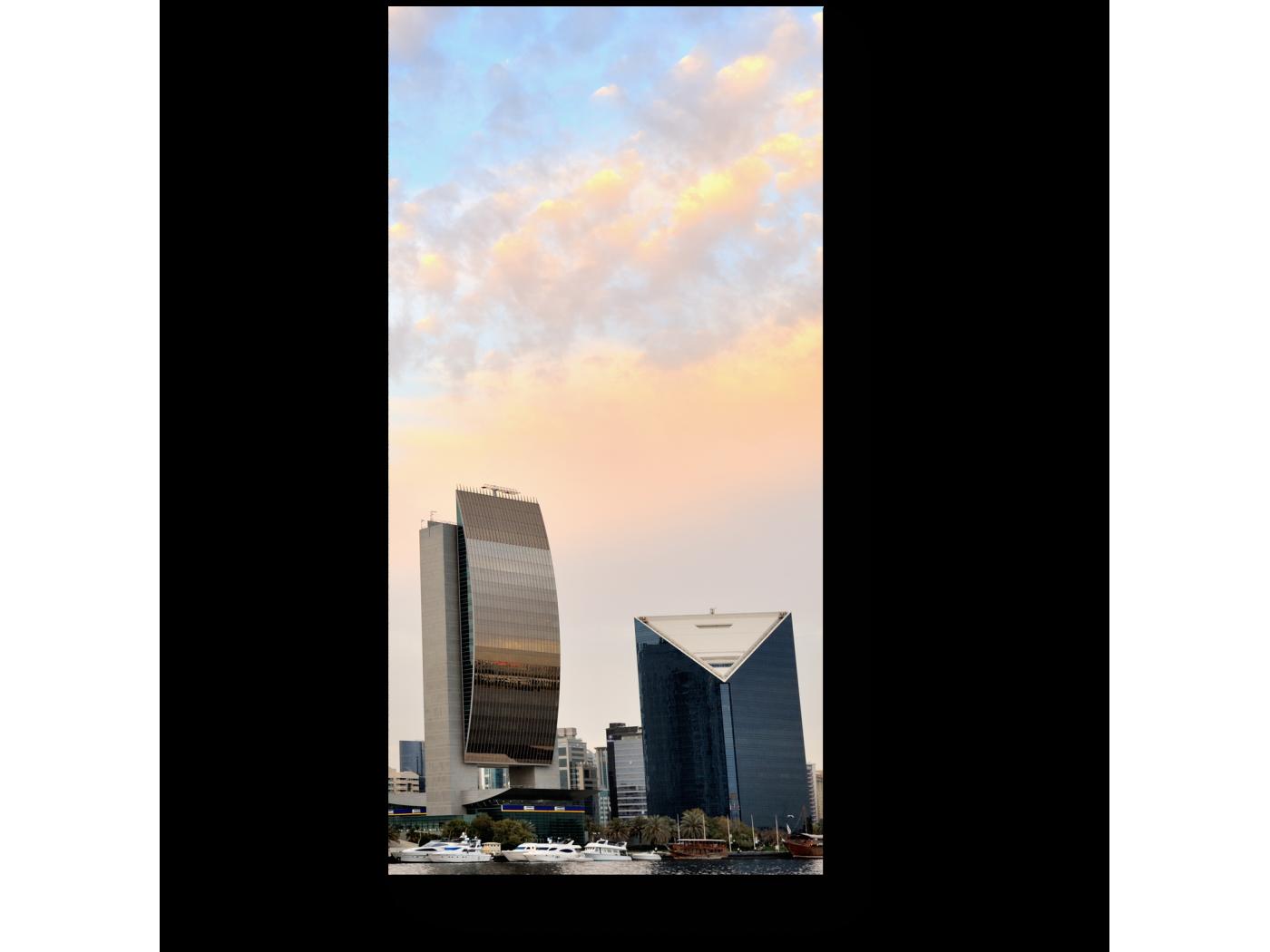 Модульная картина Утренний Дубай (20x40) фото