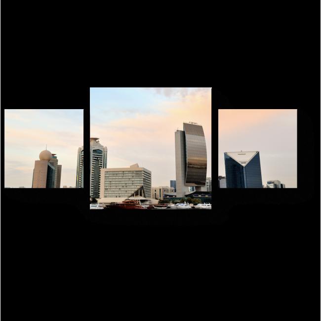 Модульная картина Утренний Дубай