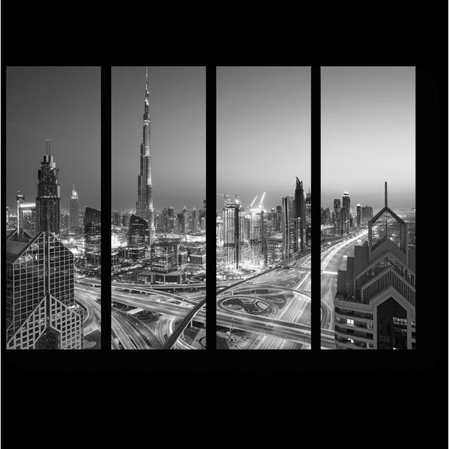 Модульная картина Монохромный Дубай
