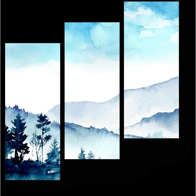 Модульная картина Акварельные горы