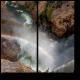 Радуга прячется в водопаде