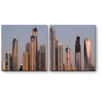 Небоскребы сияющего Дубая