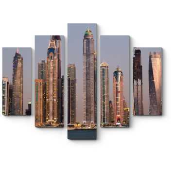 Модульная картина Небоскребы сияющего Дубая