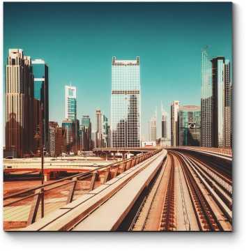 Модульная картина Дубайское метро