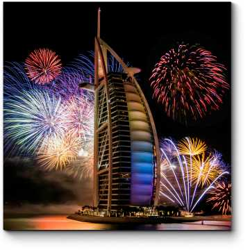 Модульная картина Потрясающий Новый год в Дубай
