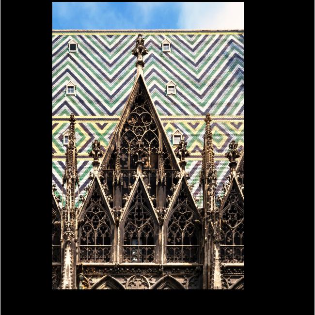 Модульная картина Готические арки Собора Святого Стефана, Вена