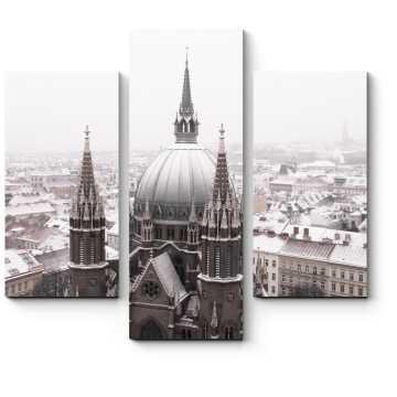 Собор Святой Марии зимним полуднем, Вена