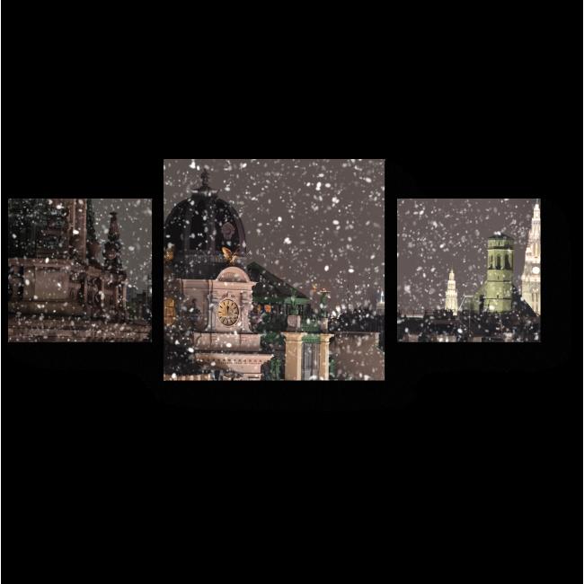 Модульная картина Крыши зимней Вены