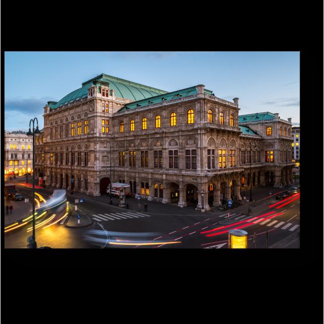 Модульная картина Знаменитая Венская Опера на закате