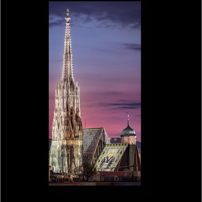 Модульная картина Собор Святого Стефана на закате, Вена