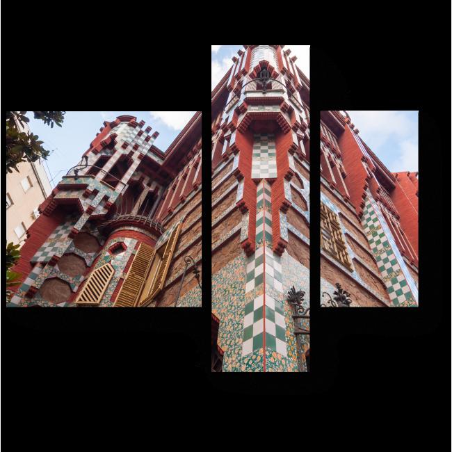 Модульная картина Дом в стиле модерн, Барселона
