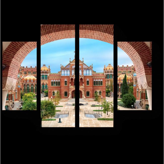 Модульная картина Госпиталь Сан-Пау, Барселона